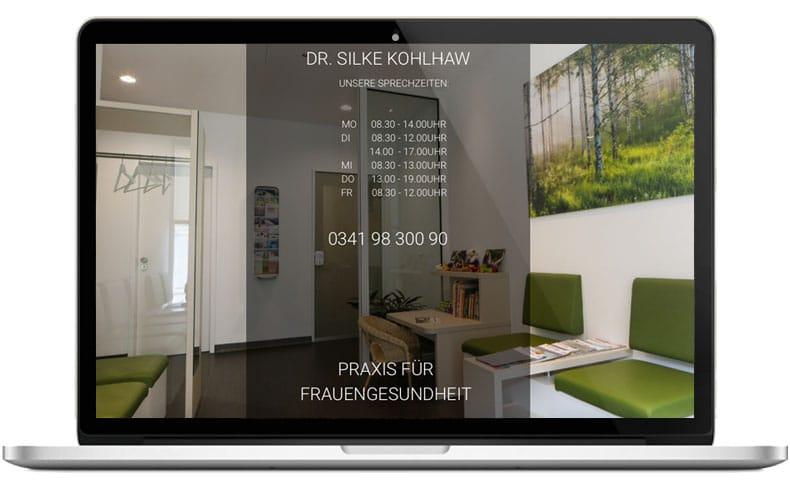 Webseite für Ärzte-Gynpraxis-Leipzig