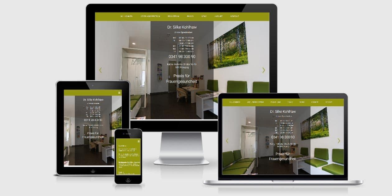 Webseite für Ärzte von Webprojekt chemnitz
