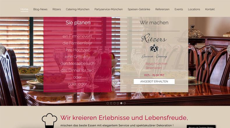 webprojekt chemnitz referenz catering partyservice münchen
