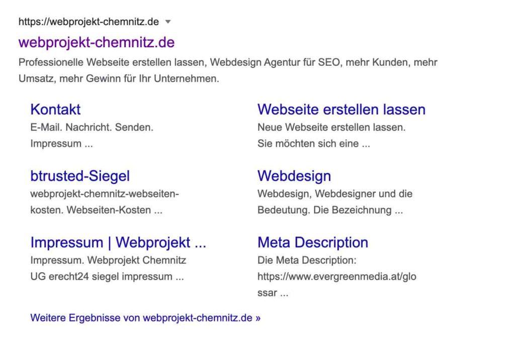 webprojekt-chemnitz-seo-snippet-google